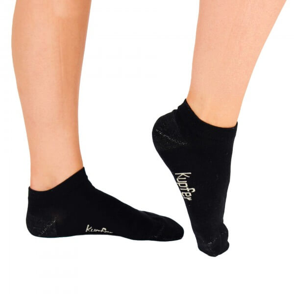 Viskose-Sneaker Socken aus Bambuszellstoffen mit Kupferwirkung 3 Paar, schwarz