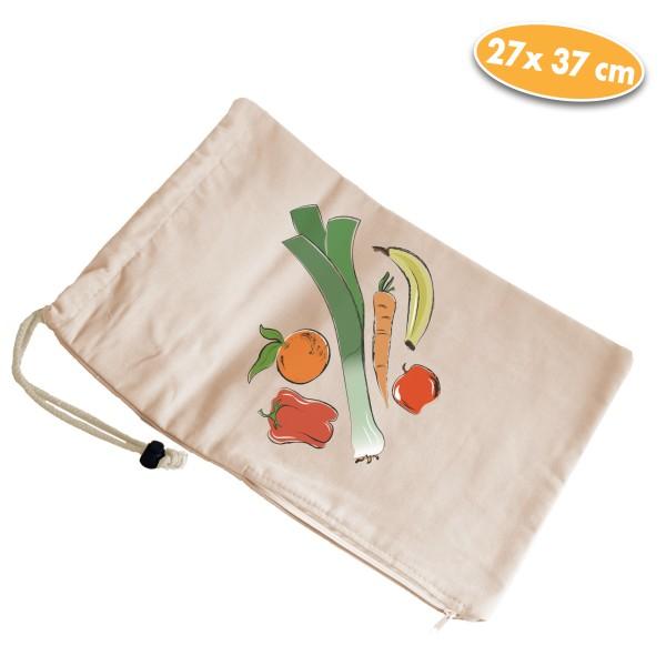 Aufbewahrungsbeutel für Gemüse, beige