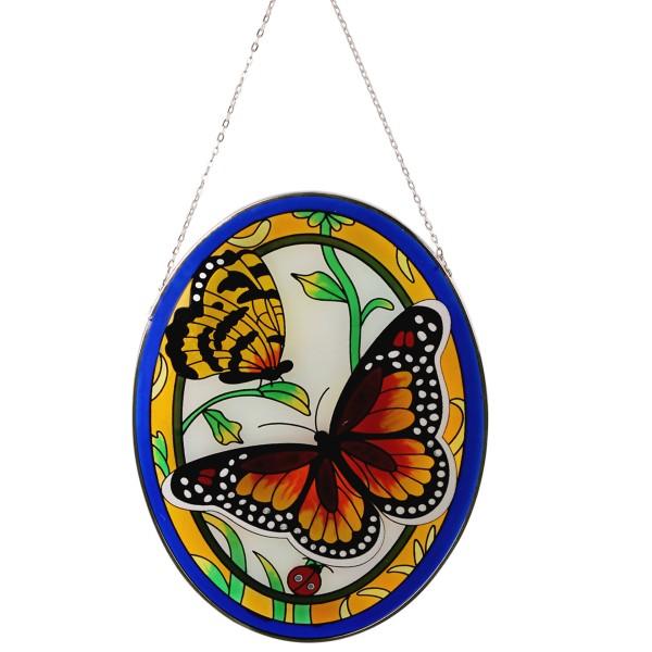 Glas Fensterbild Mod. Schmetterling