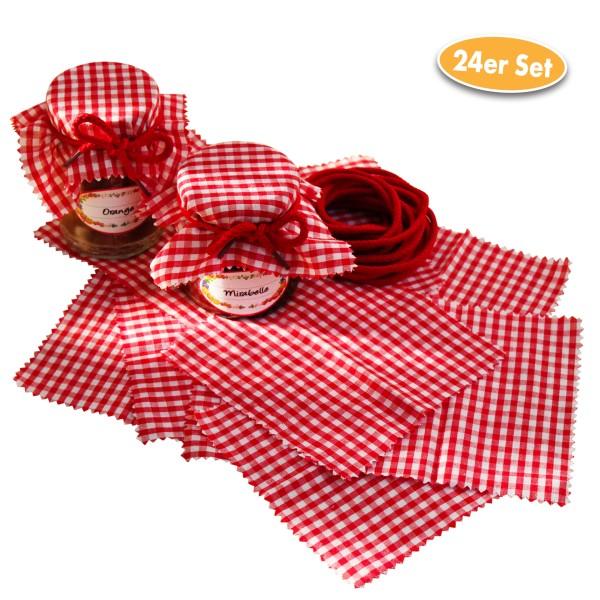 Marmeladenglas-Abdeckung Baumwolle 12 Stück inkl. 12 Bändchen