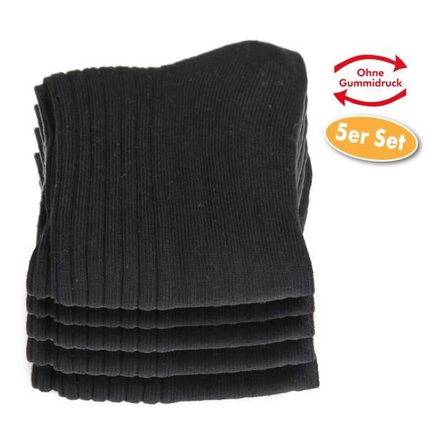 Baumwollsocken 5 Paar, Schwarz