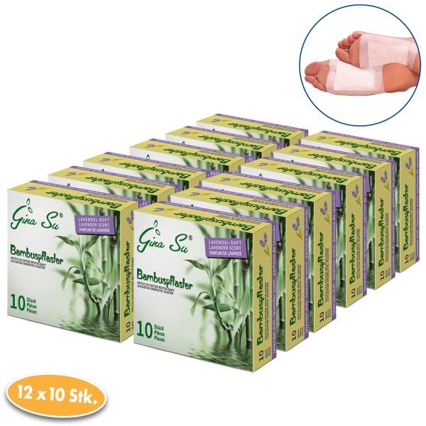 Gina Su Bambuspflaster mit Lavendelduft 120 Stück (12x 10er)