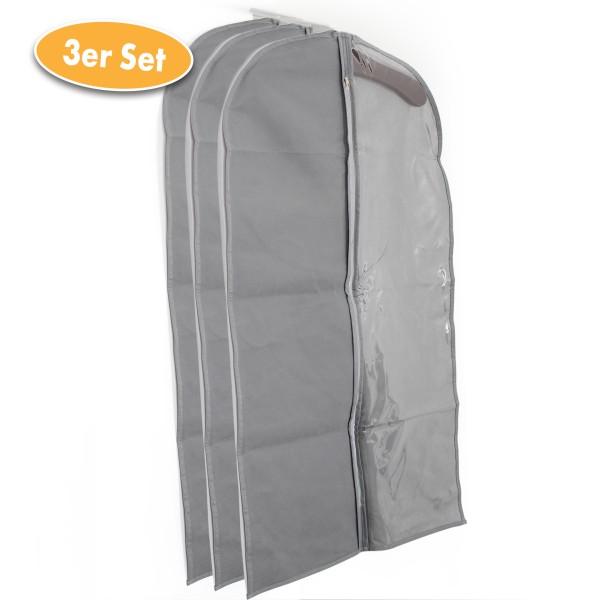 Kleiderschutzhülle mit Sichtfenster 3er Set