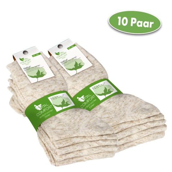 Vital Comfort Socken aus Baumwolle mit Leinen, 10 Paar