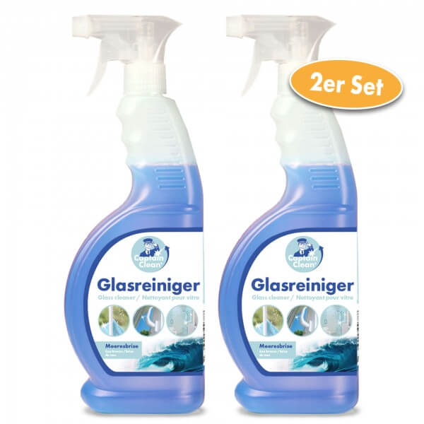Captain Clean Glasreiniger 650 ml mit Meeresbrisenduft 2er Set