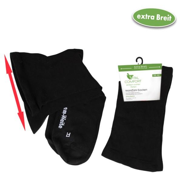Vital Comfort Wohlfühl-Socken extra breit, 2 Paar