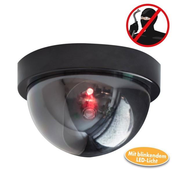 Sicherheitskamera Attrappe mit rotem LED