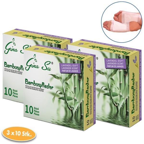 Gina Su Bambuspflaster mit Lavendelduft 30 Stück (3x 10er)