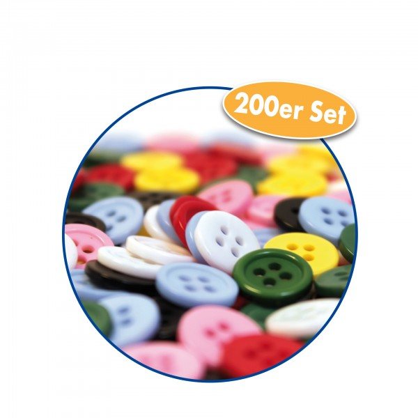 Knopf-Set farblich sortiert 200er Set