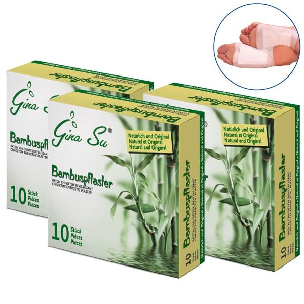 Gina Su Bambuspflaster 30 Stück (3x 10er)