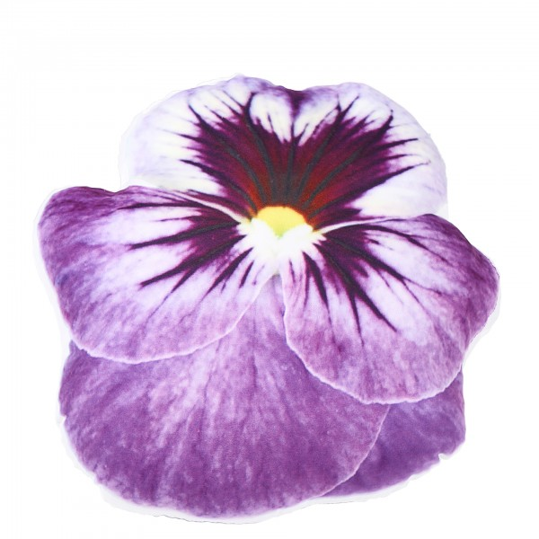 Deko-Kissen Blume, lila