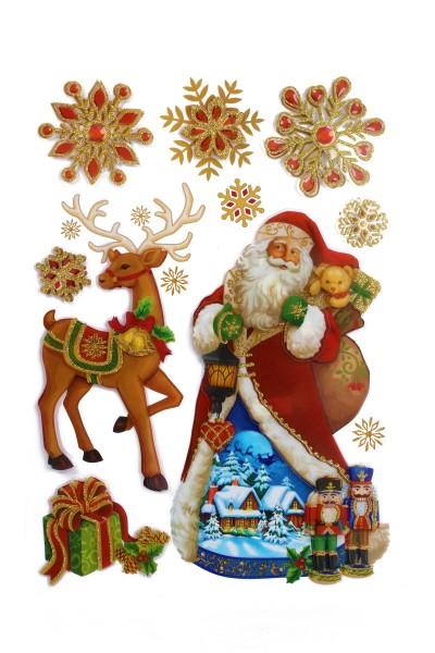 Heim Dekosticker Weihnachten, 9er Set, bunt