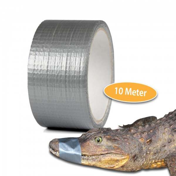 Alligatortape 10 m x 50 mm grau Gewebeband