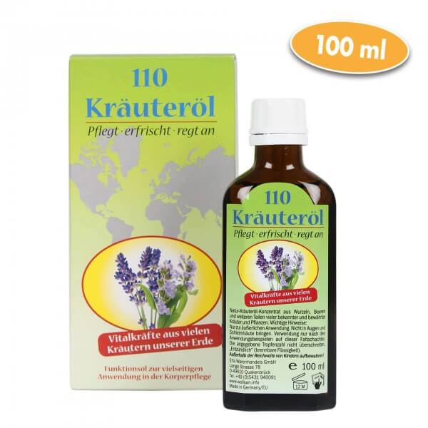 Kräuteröl, Massageöl mit 110 Kräutern - 100ml