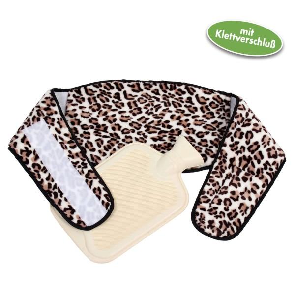 Vital Comfort Wärmflaschen-Gürtel mit Klett, inkl. Wärmflasche, Leo Design