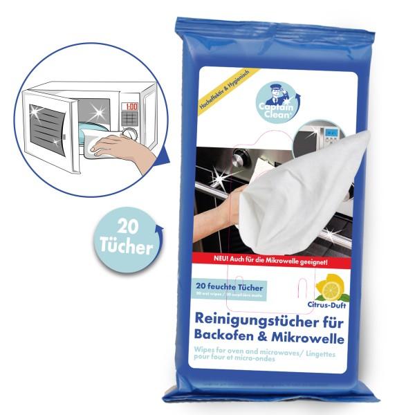 Captain Clean Reinigungstücher für Backofen und Mikrowellen 20er Set