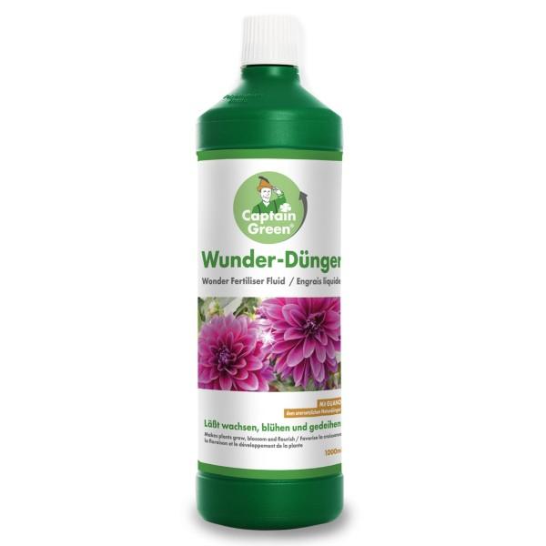 Captain Green Wunder-Dünger flüssig 1000 ml mit 300 ml Sprühflasche