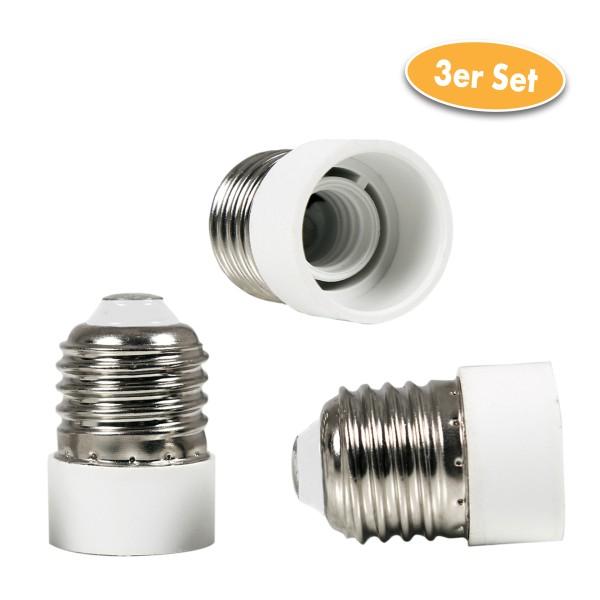 Glühlampen Sockel-Adapter E27 zu E14 3er-Set