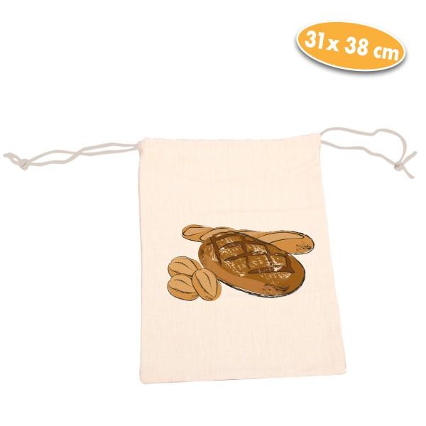 Aufbewahrungsbeutel für Brot, beige, 2er
