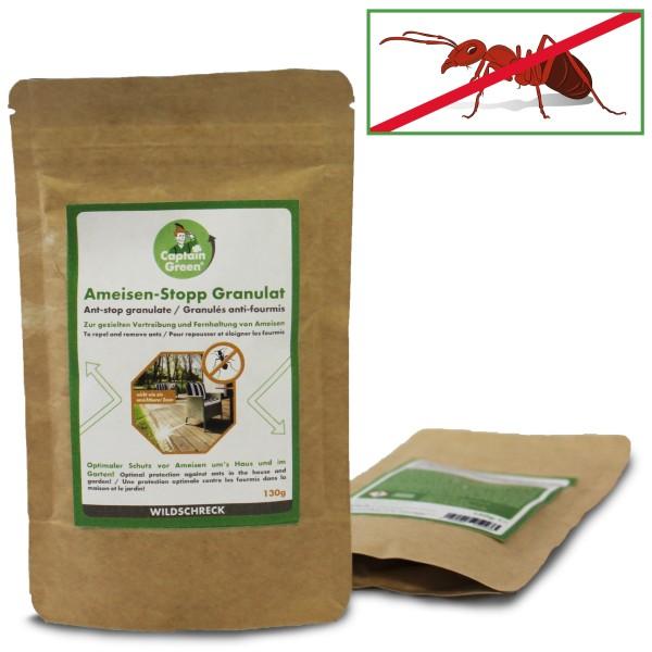 Captain Green Wildschreck Ameisen-Stopp Granulat 130 g