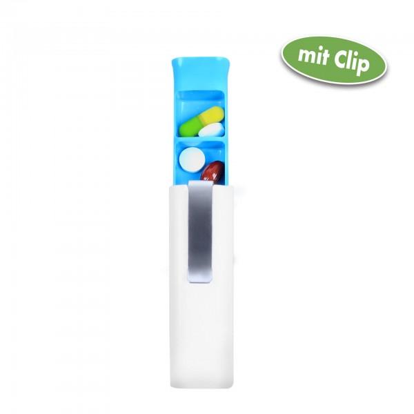 Vital Comfort Pillendose tragbar mit Clip