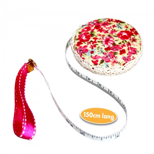 Maßband mit Stoffbezug Blumendesign
