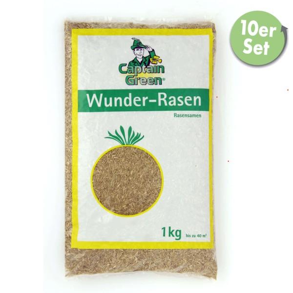 """Captain Green Rasensamen """"Wunder Rasen"""" 10 kg (10 x 1 kg)"""