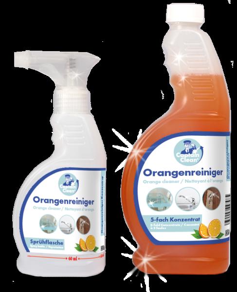 Captain Clean Orangenreiniger-Konzentrat 650 ml inkl. Sprühflasche + Reinigungstuch