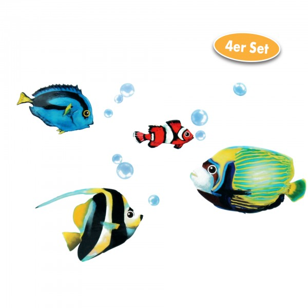 Heim Dekosticker Fische, 4er Set