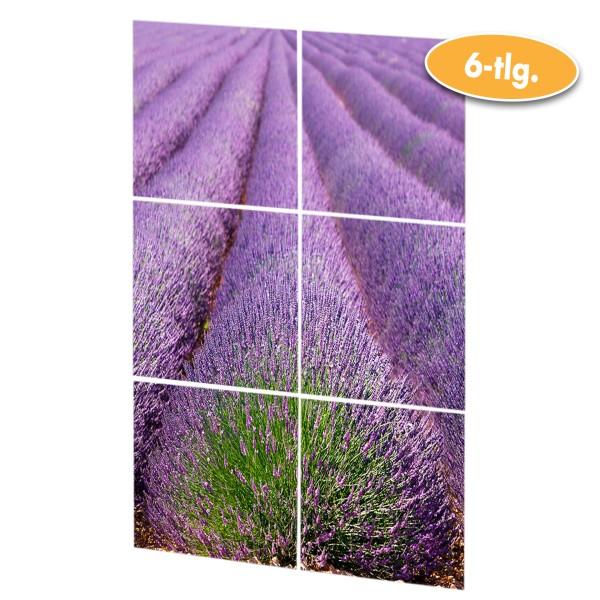 Fliesen-Aufkleber Mod. Lavendel 6-tlg.