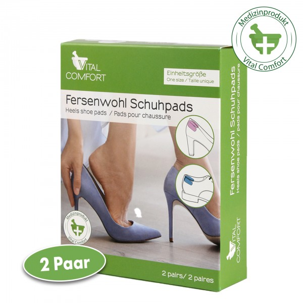 Vital Comfort Fersenwohl Schuhpads 4 Stück