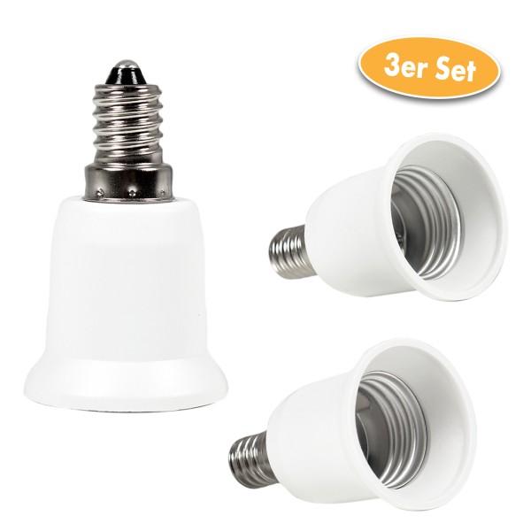 Glühlampen Sockel-Adapter E14 zu E27 3er-Set