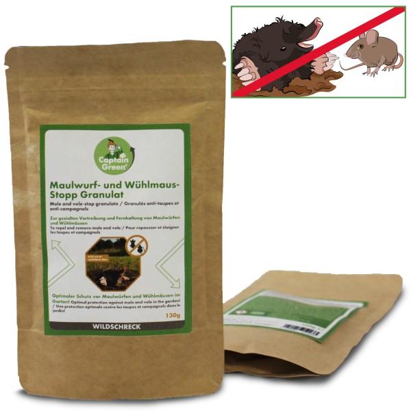 Captain Green Wildschreck Maulwurf- und Wühlmaus-Stopp Granulat 130 g