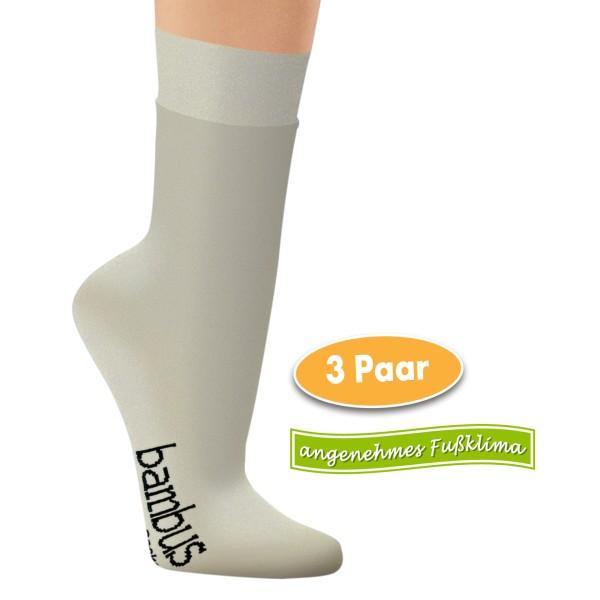 Viskose-Socken aus Bambuszellstoffen, 3 Paar