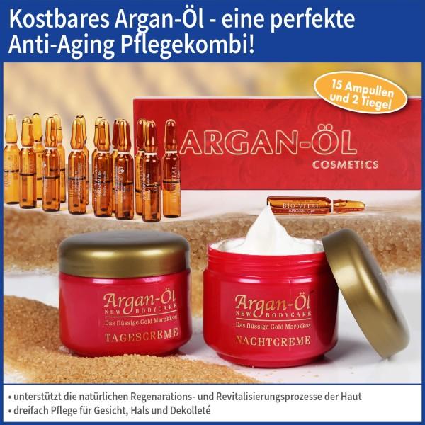 Bio-Vital Pflegeset Argan-Öl Tag- und Nachtcreme mit Arganöl-Ampullen 3-tlg.