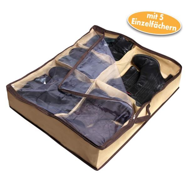 Aufbewahrungstasche Schuhe, Unterbettkommode für 5 Paar Boots und Stiefel