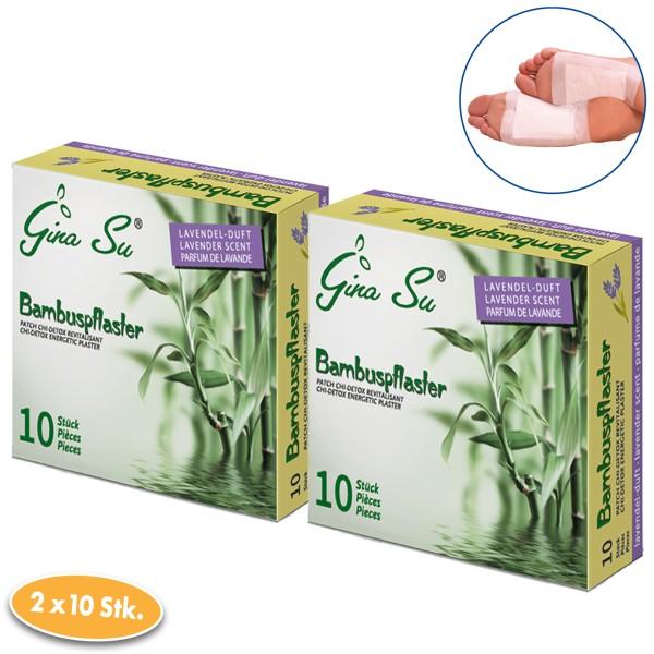 Gina Su Bambuspflaster mit Lavendelduft 20 Stück (2x 10er)