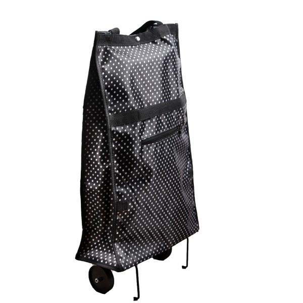 Einkaufstrolley klappbar schwarz