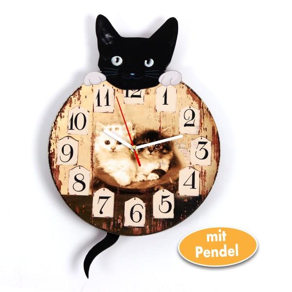 Pendel-Wanduhr Mod. Katze